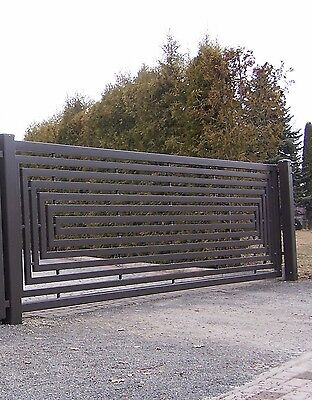 Modern Iron Driveway Sliding Gate Made To Measure