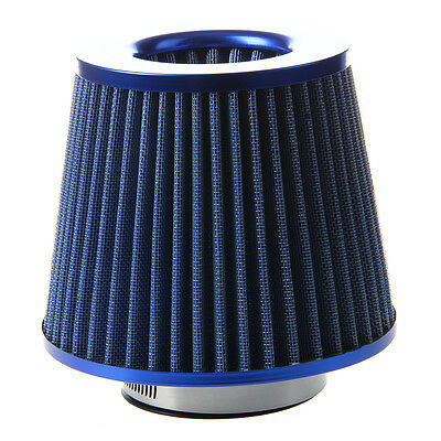 SS Universal Car Air Filter Vehicle Induction Kit High Power Mesh Blue Finish Sp
