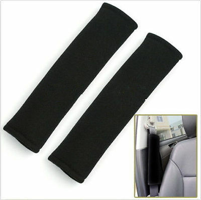 1 Pair Car Safety Seat Belt Shoulder Pads Cover Cushion Harness Pad NEW H AUO