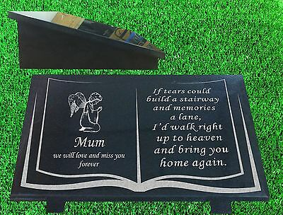 granite memorial plaque grave marker