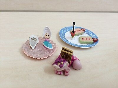 Dollhouse Miniature Alice in Wonderland Very RARE ReMent. Oyster, Cheshire, Card