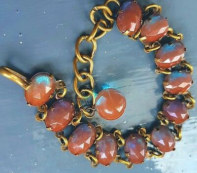 Saphiret Glass original antique bracelet