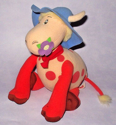 "The Magic Roundabout 12"" Talking Ermintrude The Cow Plush Soft Toy W/ Sounds"