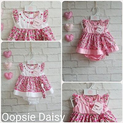 Gorgeous Baby Girls Embroidered Flower Dress with Bloomers and Headband