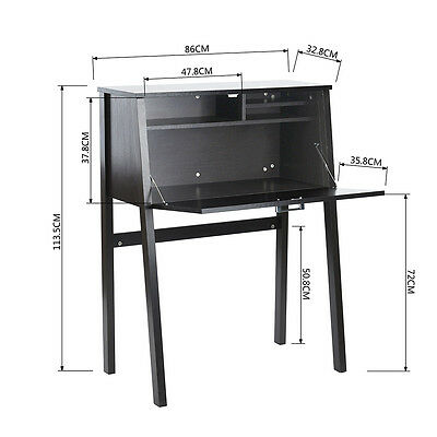 Work Writing Folding Laptop Table Home Office Study Compact Cabinet Space Saving