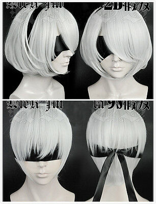 NieR:Automata cosplay costume Parrucca Wig Show Party Halloween