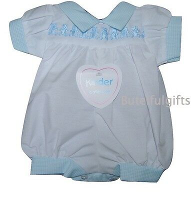 Kinder Collection Premature Baby Boys Traditional All in One Teddy Romper