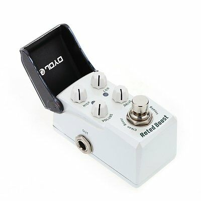 JOYO JF-301 Rated Boost Electric Guitar Effect Pedal w/Knob Guard +Clean Booster