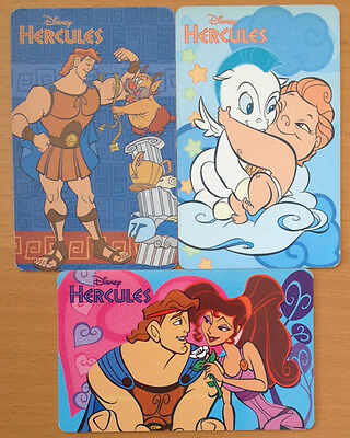 *S* Lot of 3 DISNEY HERCULES Phone Cards (Chip) from Argentina