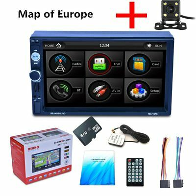 7 doppel 2din autoradio touchscreen gps navi mp5. Black Bedroom Furniture Sets. Home Design Ideas