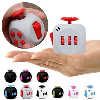 MIni Magic 6-Side Fidget Cube Anxiety Stress Attention Relief Puzzle Focus Toy