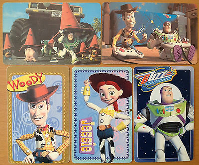 *S* Lot of 5 DISNEY TOY STORY 2 Phone Cards (Chip) from Argentina