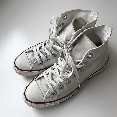 Converse All Star White Hi Tops - Size Womens 7 Mens 5