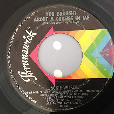 Jackie Wilson - You Brought About A Change In Me / In My Life - Brunswick 55392.