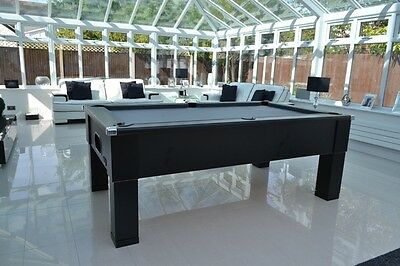 NEW Black slate bed pool table British made