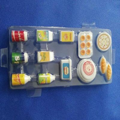 12Pcs/Set Juice Milk Drinks Set Dollhouse Miniature Food Supplies for Barbie