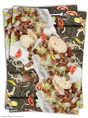 Brainbox Candy funny Kebab wrapping paper gift wrap 2 sheets birthday humour
