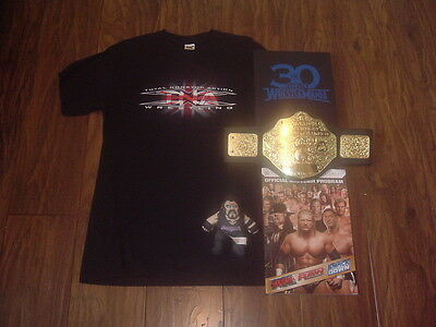 Job Lot Wrestling Memorabilia T-Shirt,Book,Programme,Undertaker,Belt - WWE TNA