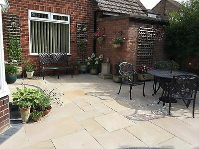 Natural Indian Sandstone Paving Raj Green 900x600 Patio Flags Garden Slabs