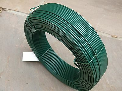 Fencing Straining Wire Green PVC Tensioning Line Wire 2.5 x 100m Fence Support