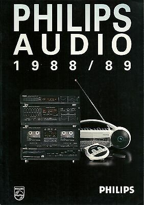Philips Katalog Prospekt : Audio 1988/1989