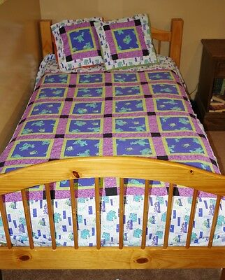 Handmade Patchwork Quilt Monsters Inc 68 X 86 Twin Double NEW Bedding