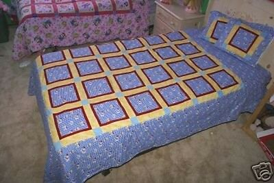 Handmade Patchwork Quilt Rare Dumbo Disney Quilt 68 X 86 Twin Double NEW Bedding