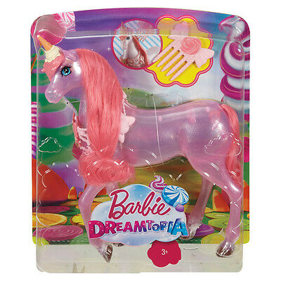 Barbie Dreamtopia Unicorn with candy details and a soft pink mane and tail!