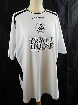 Swansea City AFC home white football shirt 2005-06 Macron Travel House size XL