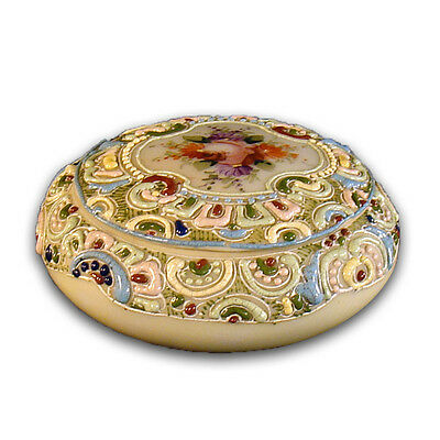 Hand Painted Enameled Porcelain Pin Dish - 1900's