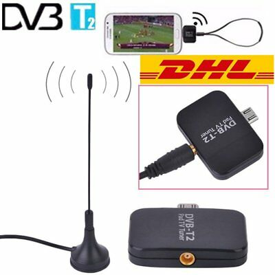 DVB-T2 Empfänger Micro USB Tuner TV Receiver Stick Android OS 4.1 Antenne  ZD