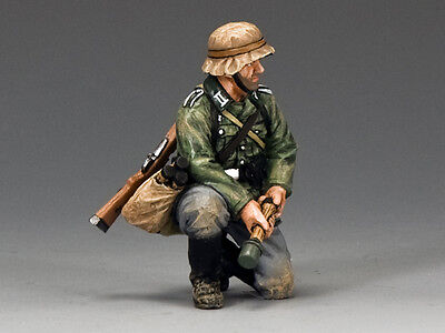 King And Country Wss288 Ws288 - Kneeling Grenadier - Wwii German Forces