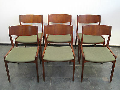 Six chaises scandinaves - six scandinavian chairs - danish design vintage
