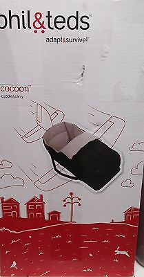 Phil & Teds Navigator COCOON Soft Carrycot (Dot, Classic, Explorer) Black