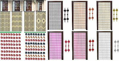 Door Curtain Flying Insect Door Curtain Bug Fly Beaded Screen Home Party Decor
