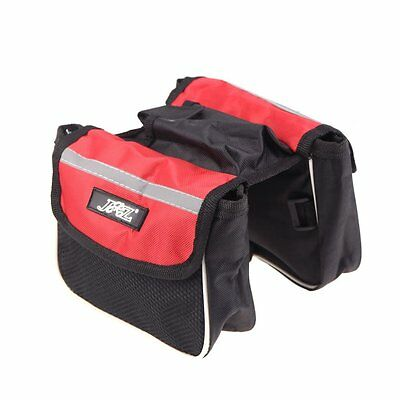 SS JSZ Cycling Bicycle Bike Frame Pannier Saddle Front Tube Bag Double Sides Out