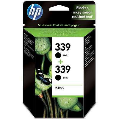 Geniune Original HP339 (C8767EE) Black TWIN Pack Ink Cartridges -860 Pages XL X2