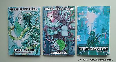 Metal Made Flesh Graphic Novels Set (1-3) NEW & VGC