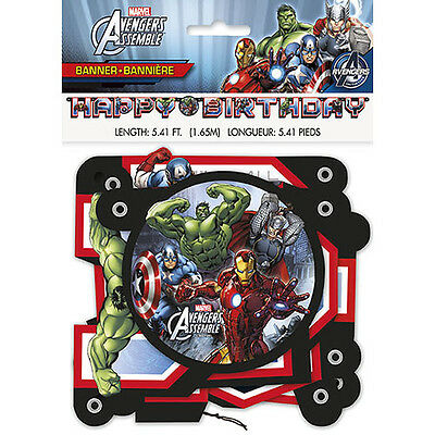 Marvel's Avengers Jointed Birthday Banner