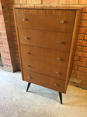 Vintage Tall Chest of Drawers circa 1950's