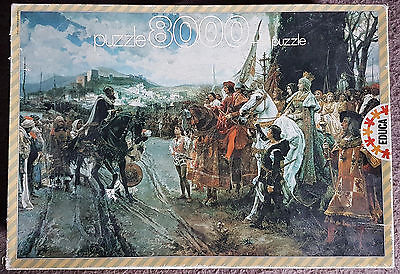 Educa 8000 piece puzzle, 'La rendition de Grenada, Pradilla' - Very Rare !!!