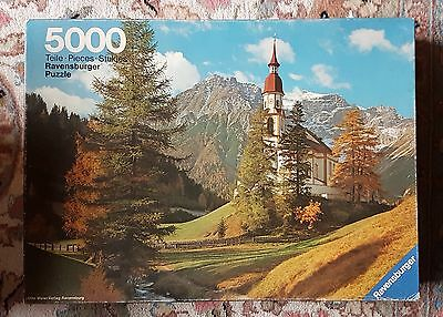 Ravensburger 5000 piece Puzzle - Obernberg at the Brenner - 1981 - New - Rare !!