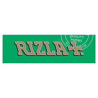 Full Box of 100 Booklets Rizla Green Medium Thin Rolling Cigarette Papers £15.49