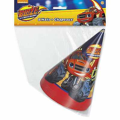 Blaze and the Monster Machines Party Hats [8 per Pack]