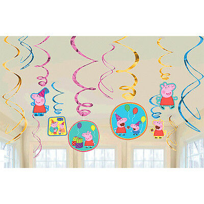 Peppa Pig Value Pack Foil Swirl Decorations