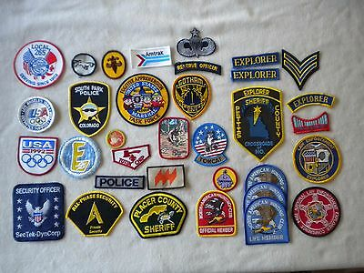 34 Patch Lot Set of Misc.Patches. mostly new ..South park/police/security .. t-1