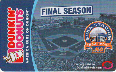 Gift Card U.S.A. Dunkin' Donuts Shea Stadium Final Season