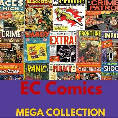 EC COMICS MEGA COLLECTION 375 E-COMICS on 1 DVD Horror Suspense Fantasy Action