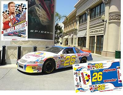 CD_2955 #26 Ricky Bobby Wonder Bread 2006 Chevy  1:24 Scale Decals