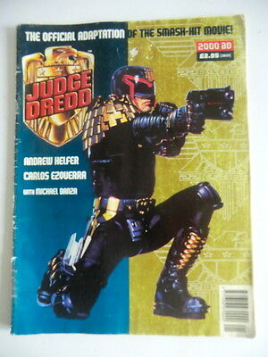 Rare Uk Edition - Judge Dredd: The Official Movie Adaptation (1995) - 2000Ad